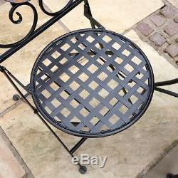 Outdoor Patio Bistro Set Mosaic Garden Folding Dining Set 3pc 2 Seater Wido