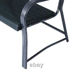 Outsunny 2 Seater Garden Bench Outdoor Porch Furniture Patio Love Seat Chair