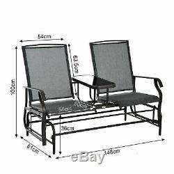 Outsunny 2 Seater Rocker Double Rocking Chair Lounger Outdoor Garden Furniture