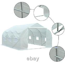 Outsunny 3.5 x 3 x 2m Large Walk-in Garden Peak Top Greenhouse Polytunnel