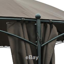 Outsunny 3.65M Diameter Round Patio Garden Gazebo Marquee Party Tent Side Wall