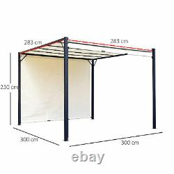 Outsunny 3 X 3m Garden Metal Gazebo Party Canopy Tent Sun Shelter Cover Canopy