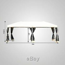 Outsunny 3 X 6 M Garden Patio Gazebo Wedding Pop-up Party Tent Canopy Sun Shade