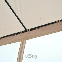 Outsunny 3 x 3M Gazebo Outdoor Patio Party Tent Shelter Garden Canopy Beige
