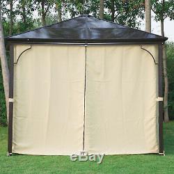 Outsunny 3 x 3m Garden Aluminium Gazebo Canopy Curtain Sunshade Rain Shelter