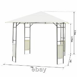 Outsunny 3m x 3m Garden Metal Gazebo Patio Party Tent Marquee Canopy Pavilion