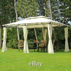 Outsunny 4 x 3m Garden Metal Gazebo Canopy Party Tent Patio Shelter Pavilion