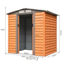 Outsunny 5 x 7ft Garden Metal Storage Shed Tool Sliding Door with Foundation