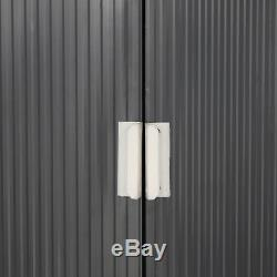 Outsunny 6.5 X 11FT Outdoor Garden Storage Shed with2 Door Galvanised Metal Grey