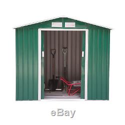 Outsunny 6x4ft Garden Shed Patio Foundation Storage Unit Metal Tool Box Green