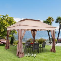 Outsunny Garden Folding Tent Heavy Duty Pop Up Gazebo Outdoor BBQ Party Marquee