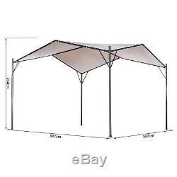Outsunny Garden Outdoor Gazebo Pavilion Canopy Tent Sunshade Steel 3.5x3.5 m