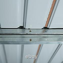 Outsunny Garden Shed Storage Metal Roof Tool Box Container 12.5ft x 11ft Yellow