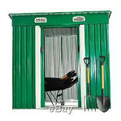 Outsunny Metal Garden Shed Roof Storage Lockable Patio Tool Kit Free Foundation
