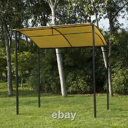 Outsunny Metal Wall Gazebo Marquee Garden Patio BBQ Grill Canopy Awning Shelter
