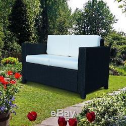 Outsunny Rattan Sofa Chair Seat 2 Seater Wicker Patio Garden Furniture Armchair