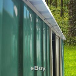 Panana Metal 8x4 Garden Shed Pent Roof Heavy Duty Steel Bike Storage Sheds New