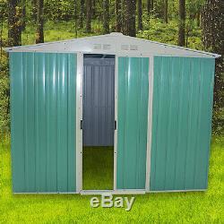 Panana Metal Garden Shed Storage 2 Door Pent Roof Free Base Foundation Outdoor