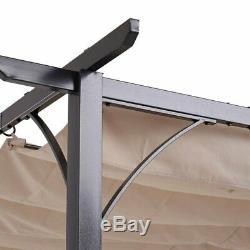 Patio Aluminum Pergola Gazebo Sun Shade Rectangle Awing for Outdoor Garden 3x3M