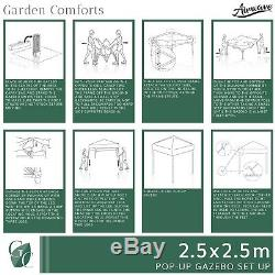Pop Up Gazebo 2.5m with Sides Waterproof Garden Marquee Tent Canopy by Airwave