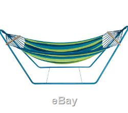 Portable Swinging Hammock Free Standing Garden Outdoor Swing With Metal Stand