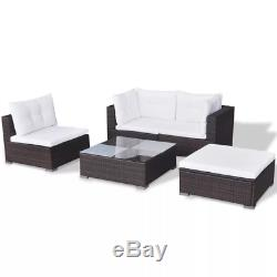 Rattan Corner Garden Sofa Dining Table Set Furniture Get Together Dust And Wind