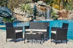 Rattan Garden Furniture Set Conservatory Patio Outdoor Table Chairs Sofa Cover