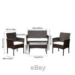 Rattan Garden Furniture Set Table Chair Sofa Table Outdoor Patio Set Yard New UK