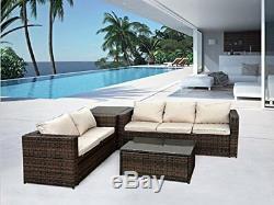 Rattan Garden Outdoor Wicker Patio Furniture Conservatory Sofa Set Table Chair