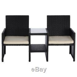 Rattan Love Chair Garden Furniture Double 2 Person Seat Outdoor Patio Wido