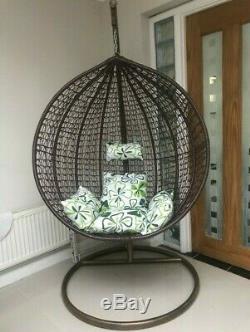 Rattan Swing Patio Garden Weave Egg Hanging Trendy Chair Cushion Indoor Outdoor
