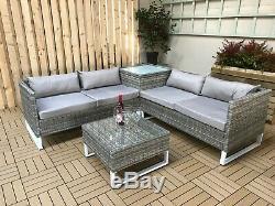 Rattan garden sofa set