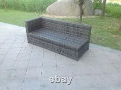 Rattan right single arm 3 seater lounge sofa outdoor garden furniture