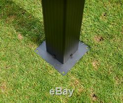 Seville Garden Metal Pergola Gazebo 3x4M Mocha Brown