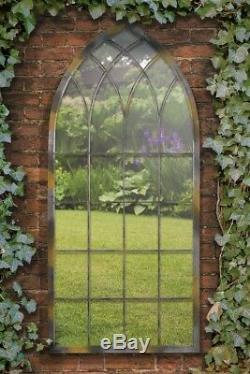 Somerley Rustic Arch Large Garden Mirror 161 x 72 CM