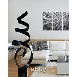 Statements2000 Abstract Metal Garden Sculpture Decor Jon Allen Black Sea Breeze