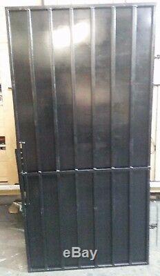 Steel Security Door, Gate. Metal Garden Side Gate With Pad Lock Options