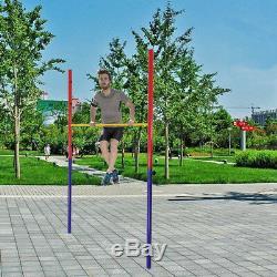 Sturdy Adjustable Gymnastic Horizontal High Bar Metal Pipe Playground Garden