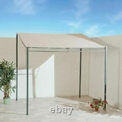 SunTime Metal Garden Wall Gazebo Marquee Patio BBQ Door Porch Shelter 2 Sizes
