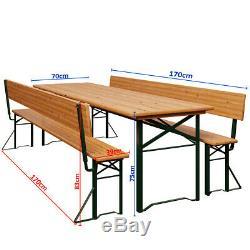 Table Bench Set Outdoor Garden Wooden Patio Beer Octoberfest Furniture Trestle