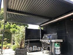 Vented Roof Pergola Style Hot Tub Canopy, Permanent Garden Awning Vented Opening
