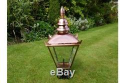 Victorian Lantern Lamp Post Top Garden Lighting 4 Finishes + Cast Iron Post