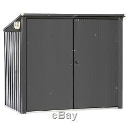 Waltons Double Wheelie Bin Store Shed Metal Garden Storage Box Outdoor Patio