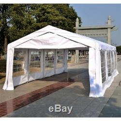 Waterproof Marquee Tent 8x4m Heavy Duty Garden Wedding Car Shelter Party Gazebo