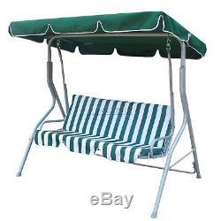 WestWood Garden Metal Swing Hammock 3 Seater Chair Bench Outdoor Canopy SC01