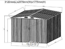 WestWood New Garden Shed Metal Apex Roof Outdoor Storage With Free Foundation