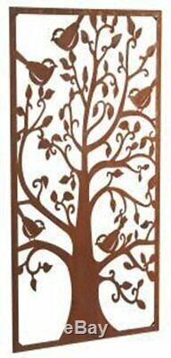 Wonderful Rustic Steel Garden Metal Tree Screen 1.8m tall ideal bin screen fence