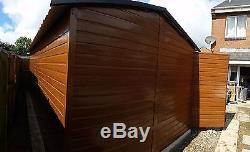 Wood Effect Metal Garage10x20ft Motorbike Car or Garden Equipment Secure Bike