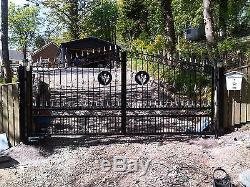 Wrought Iron Driveway Gates Garden Gates Double Gates 29