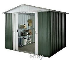 Yardmaster the NO. 1 Emerald Deluxe Apex Metal Garden Shed Size 6'8x 4'6